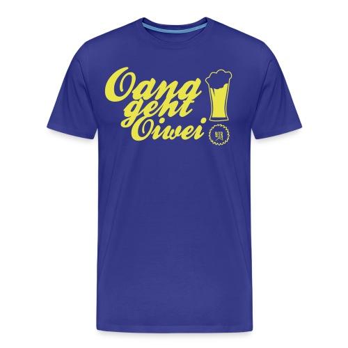 Shirt-Oana geht oiwei - BLAU - Männer Premium T-Shirt