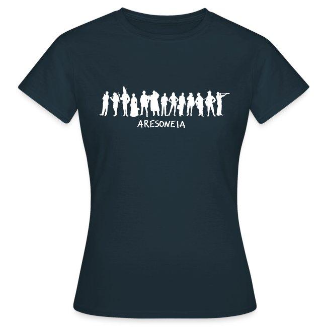 Aresoneia-Silhouetten (Weiß) - Damen-Shirt