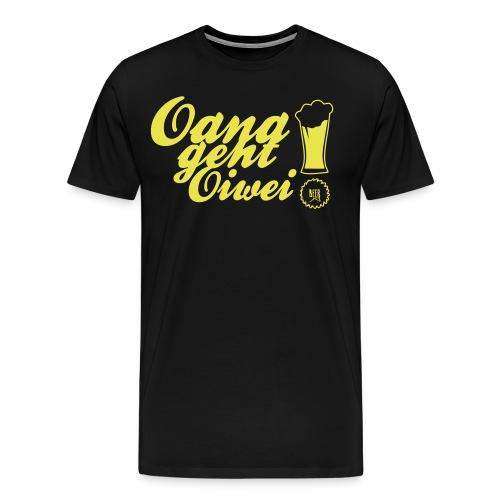 Shirt-Oana geht oiwei - SCHWARZ - Männer Premium T-Shirt