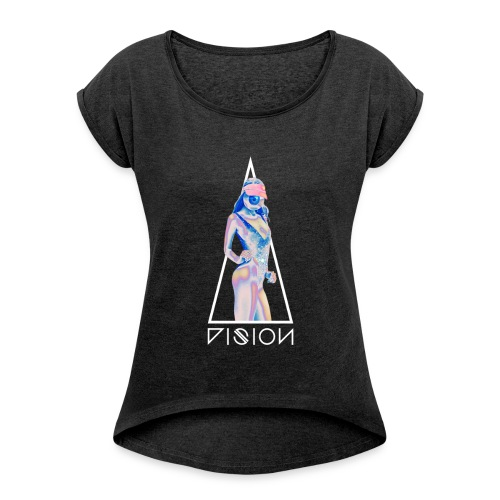 Vision - T-shirt à manches retroussées Femme