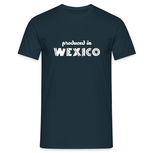Produced in Wexico - Mens T-Shirt - Navy - Men's T-Shirt