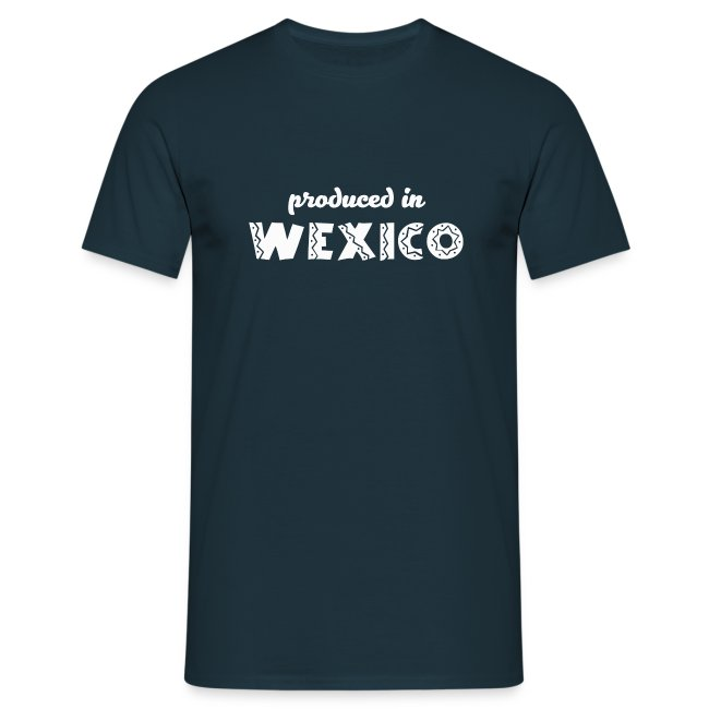 Produced in Wexico - Mens T-Shirt - Navy