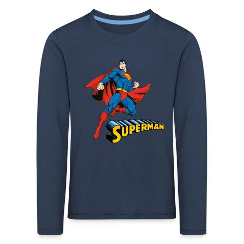 Superman Pose Kinder Langarmshirt - Kinder Premium Langarmshirt