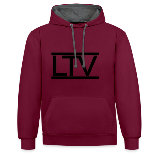 LTV Hoody - Kontrast-Hoodie
