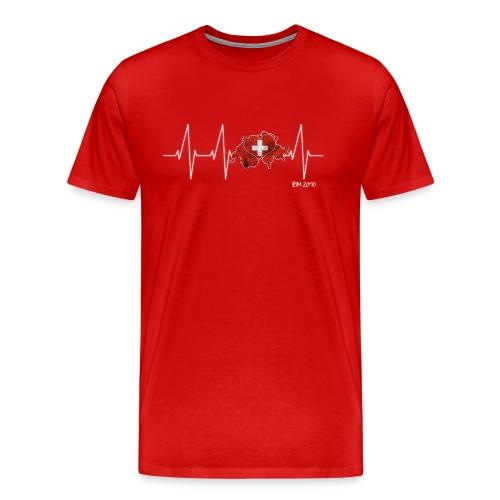 Mein Herz schlägt für die Schweiz - Männer Premium T-Shirt