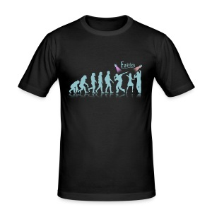 Evolution to Fatties - Men's Slim Fit T-Shirt