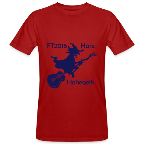 FT2016 T-Shirt Bio - Aufdruck navy, groß (Flock) - Männer Bio-T-Shirt