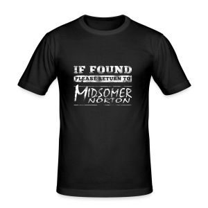 If Found Please Return to Midsomer Norton - Men's Slim Fit T-Shirt