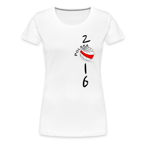 Heartbeat T-SHIRT Poland / Polska women - Frauen Premium T-Shirt