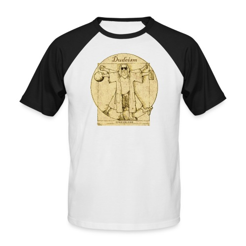 Dudeism Dude Vinci Short Sleeve Baseball Tee - Men's Baseball T-Shirt