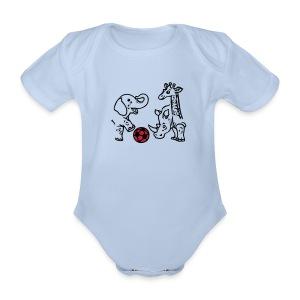 Baby Body mit Fußball - Baby Bio-Kurzarm-Body