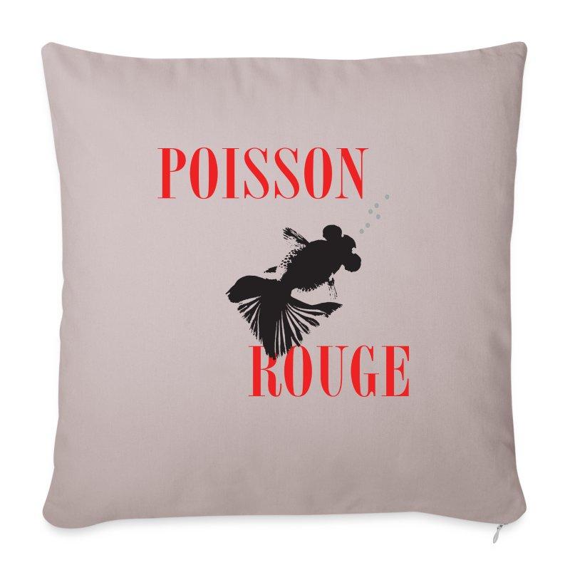 housse de coussin poisson rouge spreadshirt. Black Bedroom Furniture Sets. Home Design Ideas