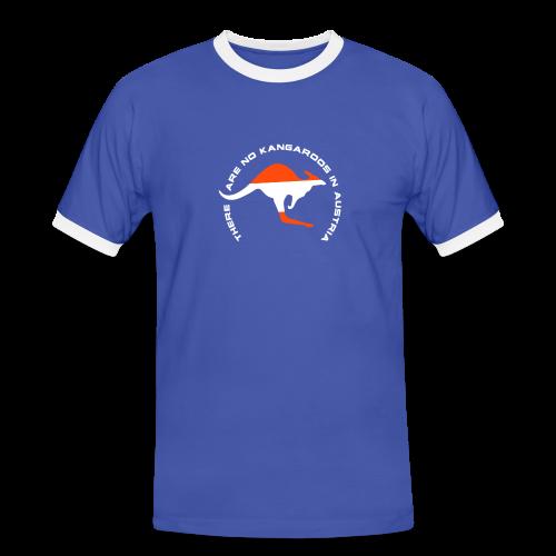 Austria und Känguru - Männer Kontrast-T-Shirt