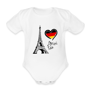 EM 2016 Mini Fan Baby Short Body - Baby Bio-Kurzarm-Body