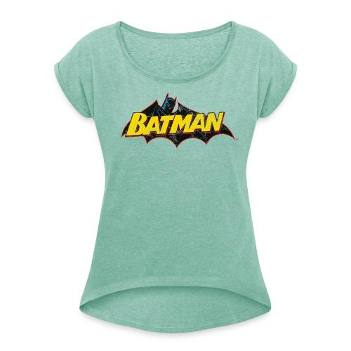 Batman 'Bat' Frauen T-Shirt - Frauen T-Shirt mit gerollten Ärmeln