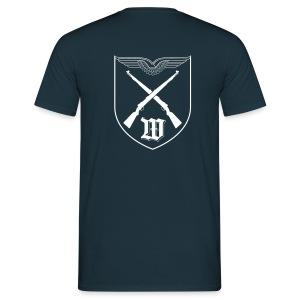 T-Shirt - Wappen Weiß Rücken | 5./WachBtl BMVg - Männer T-Shirt