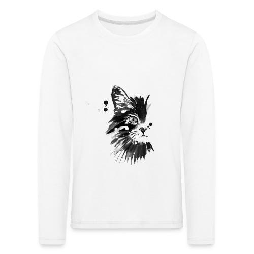 T-shirt manches longues Premium Enfant - neko,katze,chat,cat