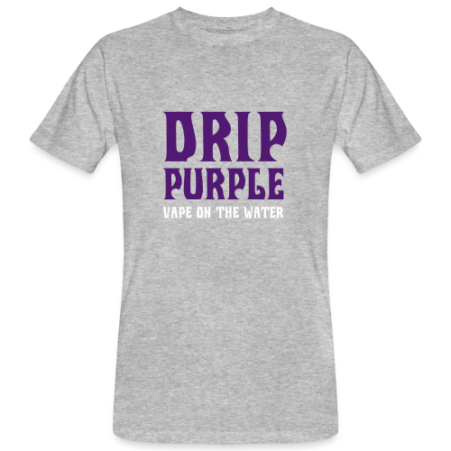 VAPE T-SHIRT DRIP PURPLE - T-shirt bio Homme