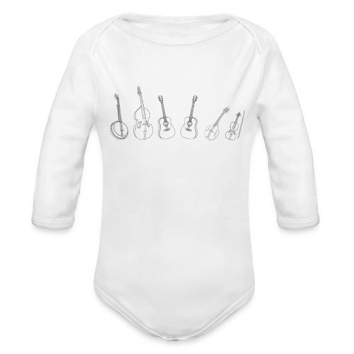 Butts on Buckets - Instruments - Body Langarm - Baby Bio-Langarm-Body