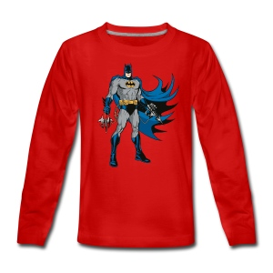 Batman 'Pose Gear' Teenager Langarmshirt - Teenager Premium Langarmshirt