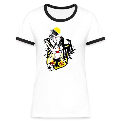 FANshirt - Frauen Kontrast-T-Shirt
