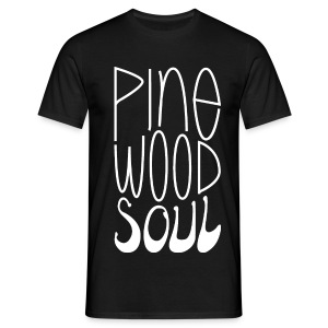 Pinewood Soul basic white on black - Men's T-Shirt