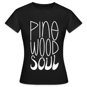 Pinewood Soul Girlie white on black - Women's T-Shirt