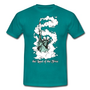 the Land of the Free ... Cannabis - male - Men's T-Shirt