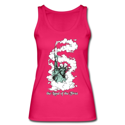 the Land of the Free ... Cannabis - female top - Women's Organic Tank Top by Stanley & Stella