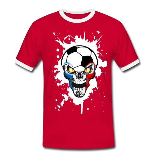 Football Skull France - Men's Ringer Shirt