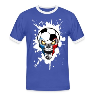 Football Skull France - Men's Ringer Shirt