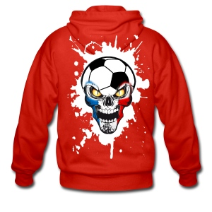 Football Skull France - Men's Premium Hooded Jacket