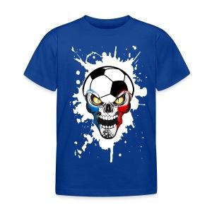 Football Skull France - Kids' T-Shirt