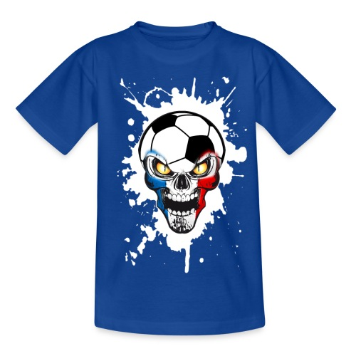 Football Skull France - Kids' T-Shirt