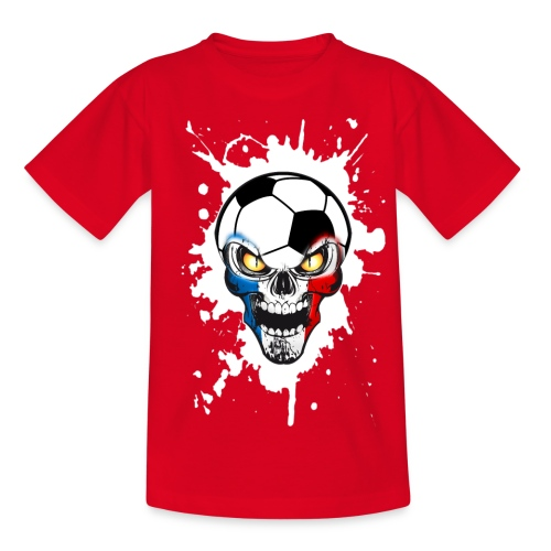 Football Skull France - Teenage T-shirt