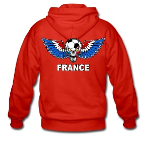 Football Skull France - Men's Premium Hooded Jacket