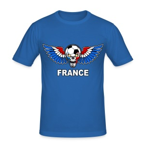 Football Skull France - Men's Slim Fit T-Shirt