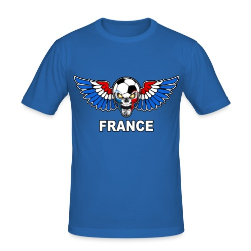 Football Skull France - Men's Slim Fit T-Shirt
