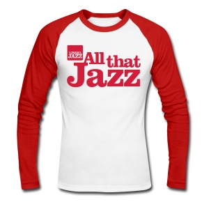 IJsseljazz Baseball shirt Rood All that Jazz - Mannen baseballshirt lange mouw