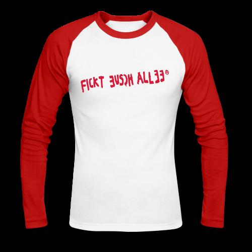 FICKT EUSCH ALLEE - Männer Baseballshirt langarm