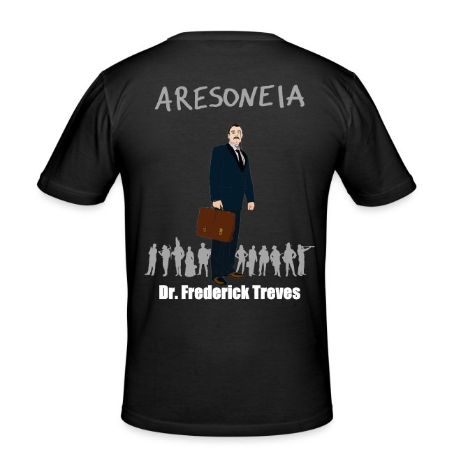 Aresoneia-Treves (Weiß) - Herren-Slim-Fit-Shirt