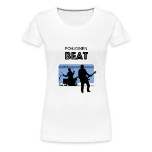 T-Paita Pohjoinen Beat - Naisten premium t-paita