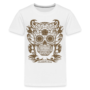 SKULL FLOWERS LEO - Teenager Premium T-Shirt
