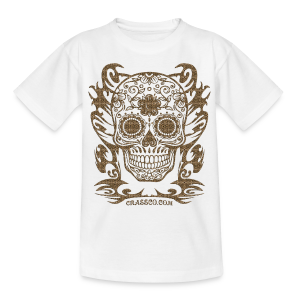 SKULL FLOWERS LEO - Kinder T-Shirt
