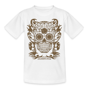 SKULL FLOWERS LEO - Teenager T-Shirt