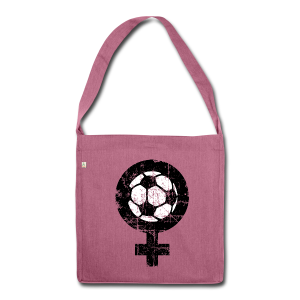 Frauenfußball Recycling Tasche (Vintage) - Schultertasche aus Recycling-Material