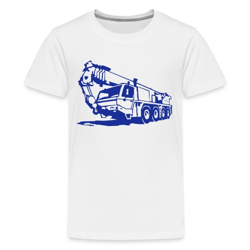 Autokran, crane (1 color) T-Shirts - Teenager Premium T-Shirt