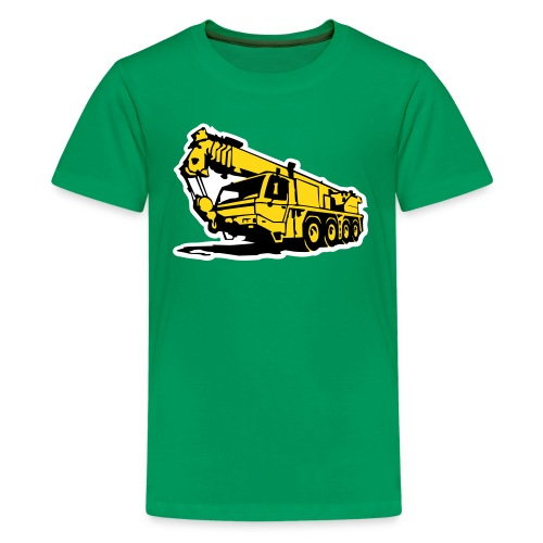 Autokran, crane (3 color) T-Shirts - Teenager Premium T-Shirt
