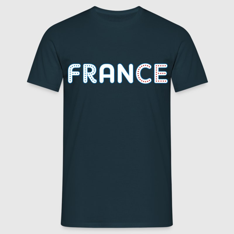 Tee Shirt France bleu blanc rouge France tricolore - T-shirt Homme