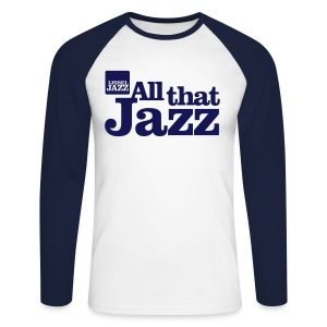 IJsseljazz Baseball shirt Navy All that Jazz - Mannen baseballshirt lange mouw